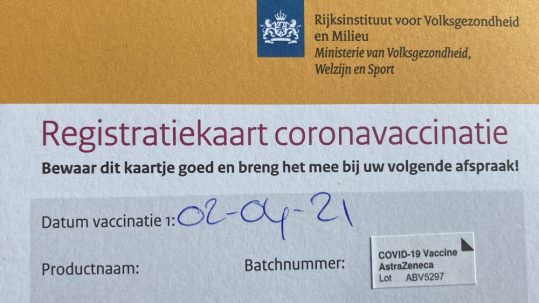 registratie kaart corona Buckley